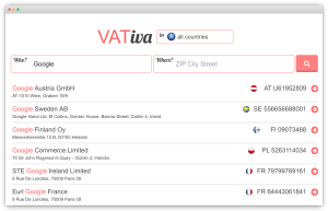 VAT number search tool